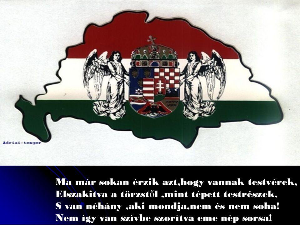 Nem feledjük,nem feledjük azt az esztend ő t, Amikor szép Magyarország D A R A B O K R A tört, Szomorú szél rohant-rohant,hegyen –völgyön át, Fekete felh ő kbe vonta a magyar hazát!
