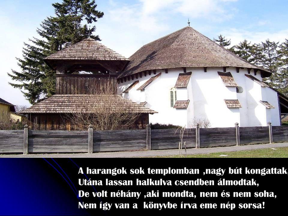 Nem feledjük,nem feledjük azt az esztend ő t, Amikor szép Magyarország darabokra tört, Szomorú szél rohant-rohant,hegyen-völgyön át, Fekete felh ő kbe vonta a magyar hazát.