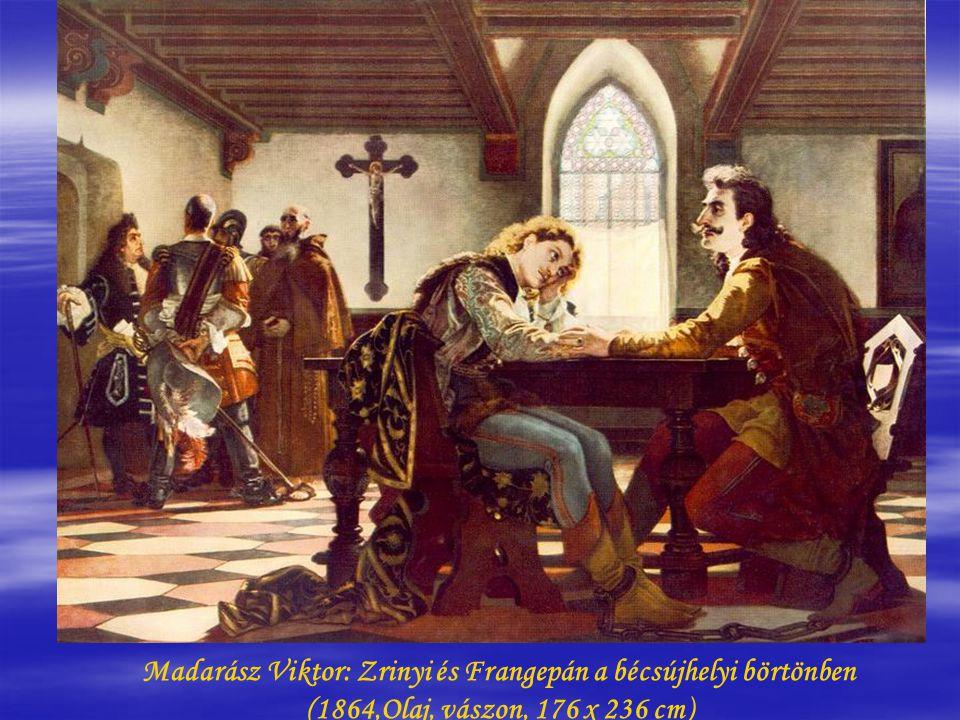 Madarász Viktor: Zrínyi Ilona Munkács várában (Zrínyi Ilona vizsgálóbírái előtt) (1859, Olaj, vászon, 146,5 x 185 cm)