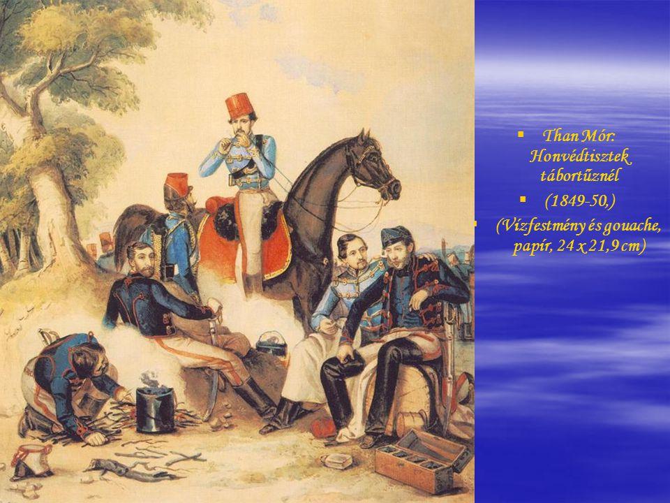 Borsos József: Nemzetőrtiszt (1848,Olaj, vászon, 110,5 x 86,5 cm)