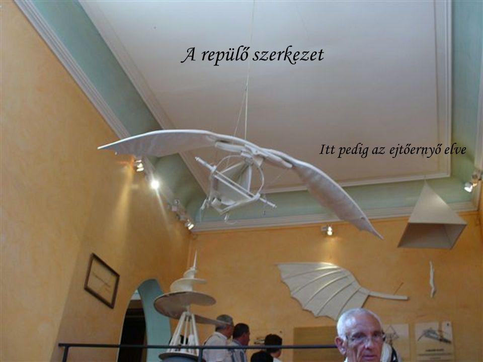 A repülő szerkezet Itt pedig az ejtőernyő elve