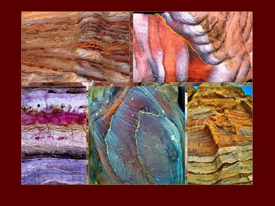 A kőalakzatok színezése teljesen természetes.