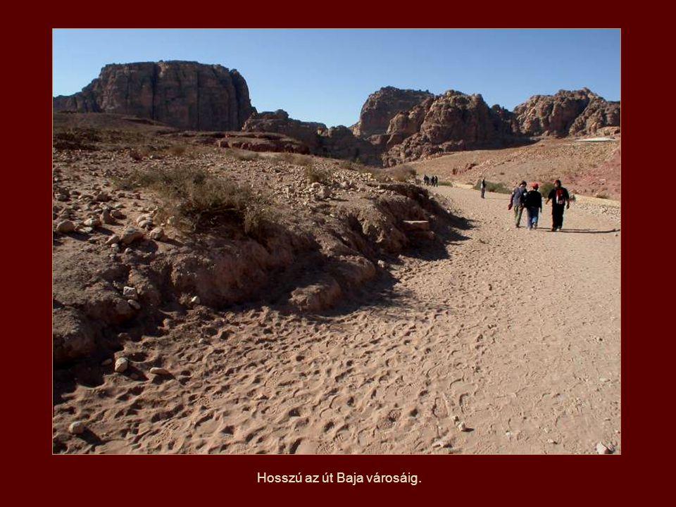 A nabateusok által épített víztároló rendszer Detalle