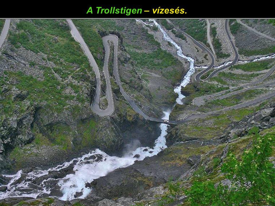 A Trollstigen – vízesés.
