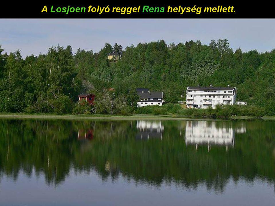 A Losjoen folyó reggel, Rena helység mellett