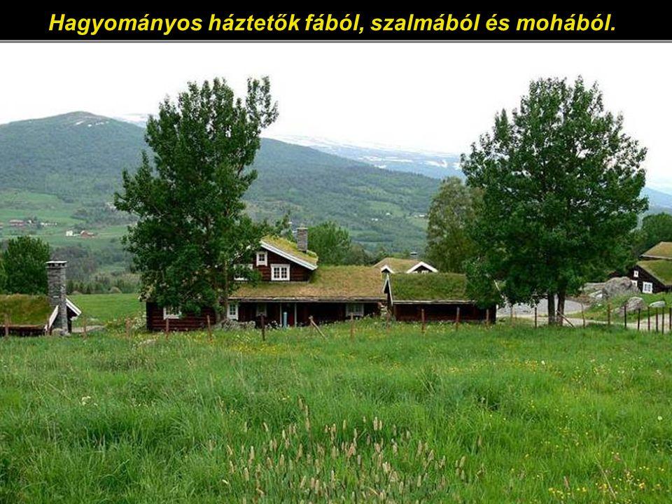 Színes és barátságos házak a Sylte felé vezető úton.
