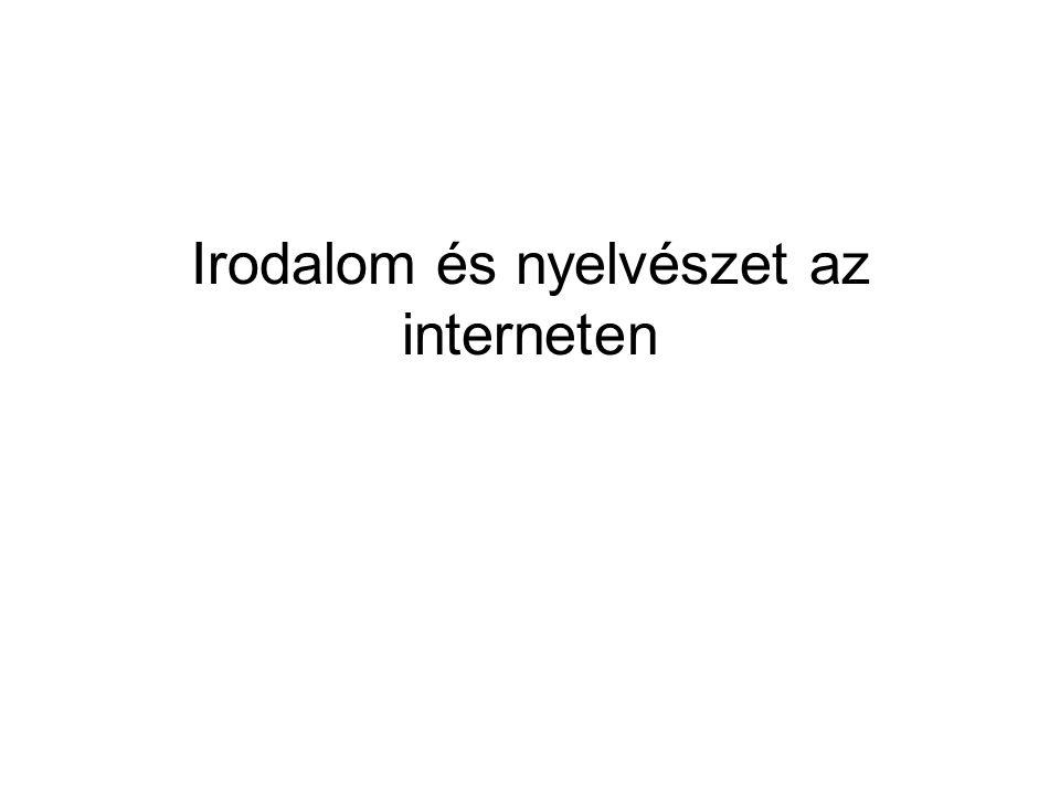 Lapok az irodalom szolgálatában Irodalom.lap.hu Magyarirodalom.lap.hu Világirodalom.lap.hu Kortarsirodalom.lap.hu