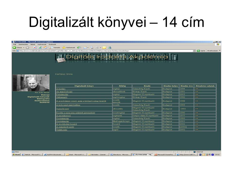 IRODALMI KRITIKÁK, TANULMÁNYOK BIBLIOGRÁFIÁJA http://www.fszek.hu http://www.fszek.hu Az irodalmi kritikák, tanulmányok bibliográfiája 1961 óta 75.545 tételben közreadja a szépirodalmi alkotókról és egyes műveikről szóló írások (monográfiák, tanulmányok, kritikák, verselemzések) bibliográfiáját.