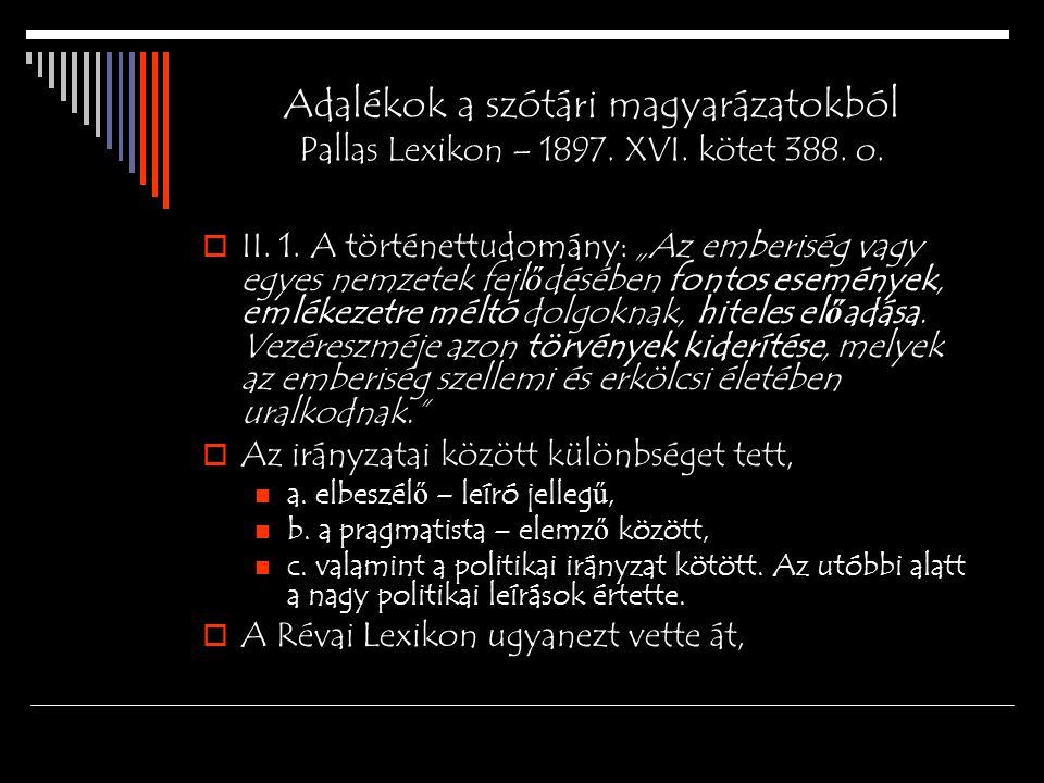 Szótári magyarázatok Új id ő k Lexikona, 1942.XVIII.