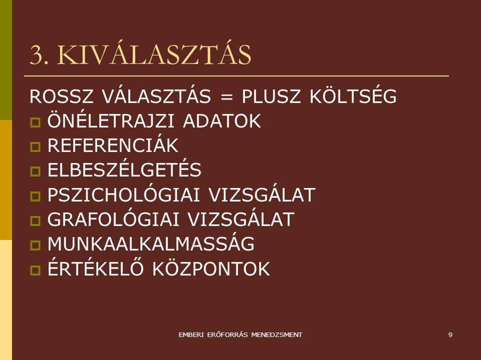 EMBERI ERŐFORRÁS MENEDZSMENT10 4.