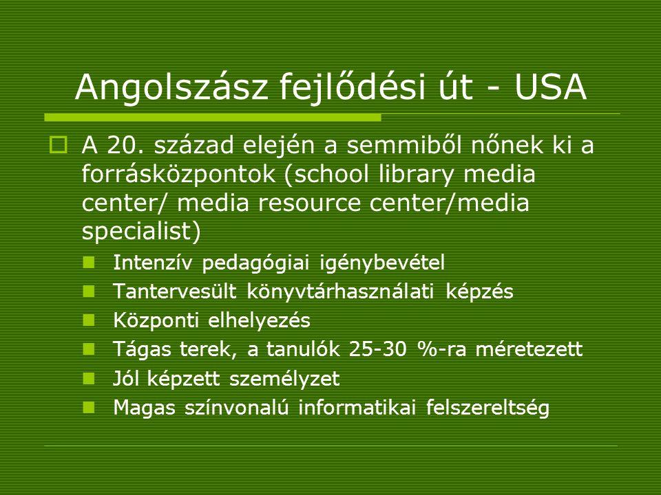 Angolszász fejlődési út - USA  A 20.
