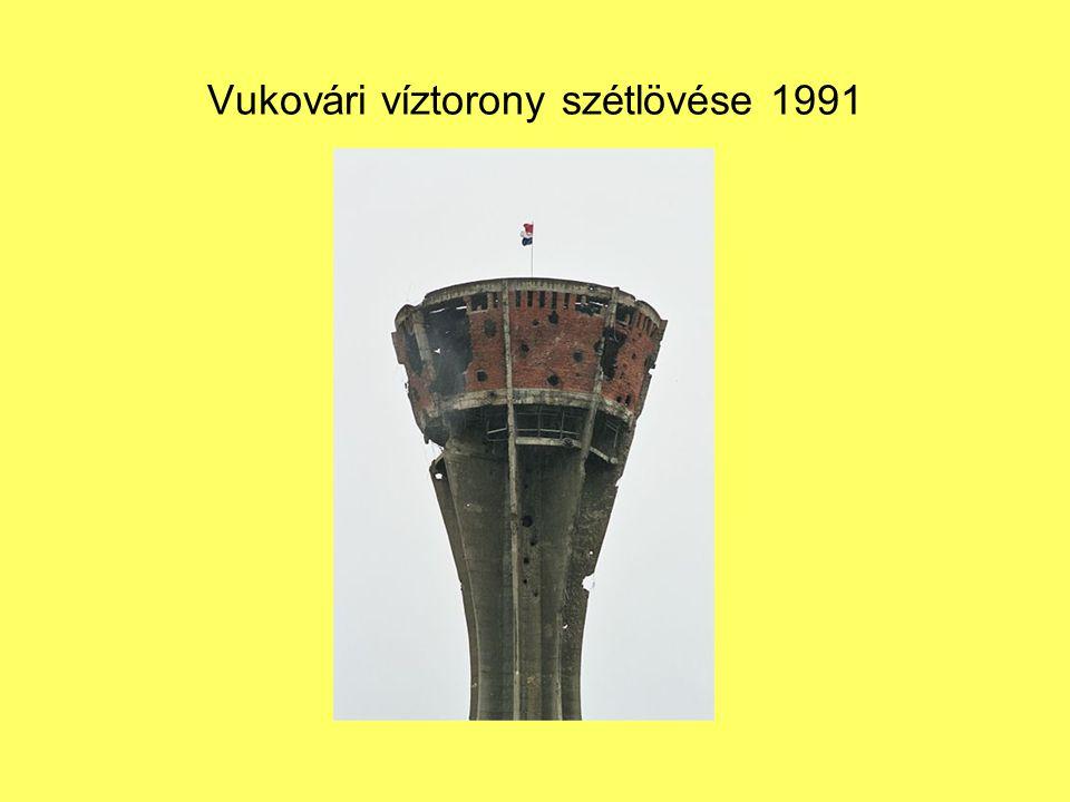 Vukovári víztorony szétlövése 1991