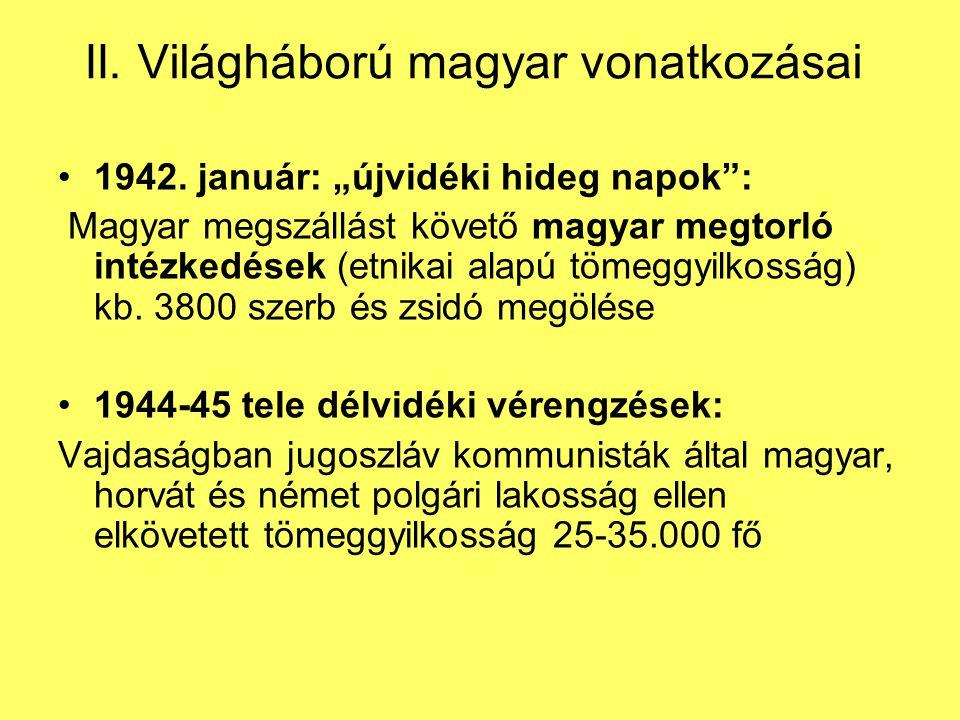 II.Világháború magyar vonatkozásai 1942.