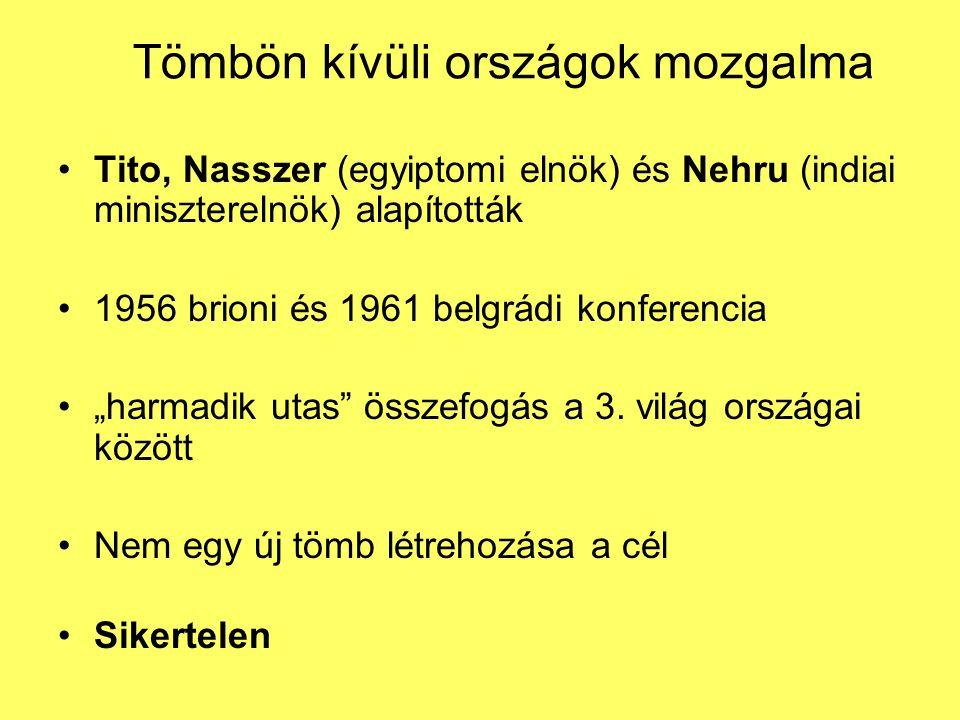 Az el-nem kötelezett országok első hivatalos ülése - Belgrád 1961