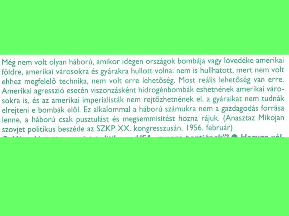 1975: Helsinki Kelet-Európa szovjet érdekszféra, status quo rögzítése Emberi jogok garantálása Európai Biztonsági és Együttműködési Konferencia (EBESZ-elődje = Európai Biztonsági és Együttműködési Szervezetet ) Közeledés: gazdasági kapcsolatok, utazások