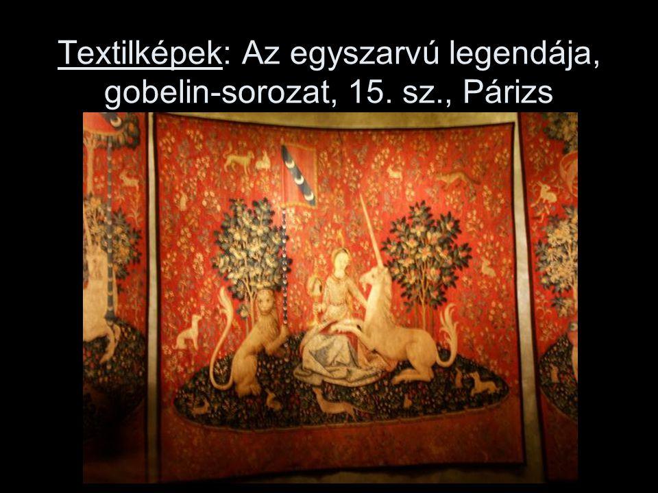 Textilképek: Az egyszarvú legendája, gobelin-sorozat, 15. sz., Párizs