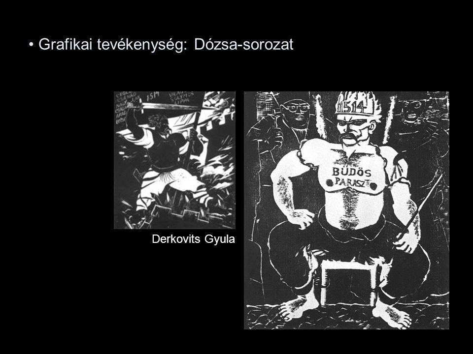 Grafikai tevékenység: Dózsa-sorozat Derkovits Gyula