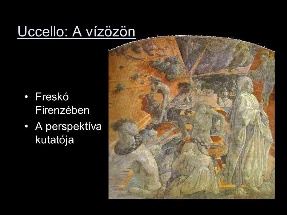 Uccello: A vízözön Freskó Firenzében A perspektíva kutatója