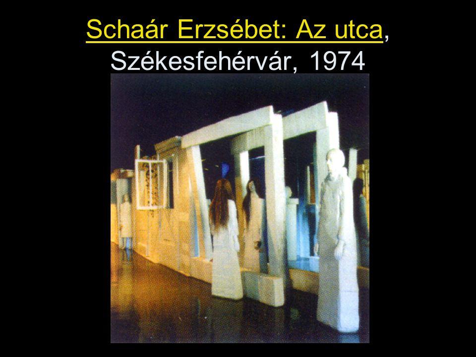 Schaár Erzsébet: Az utca, Székesfehérvár, 1974
