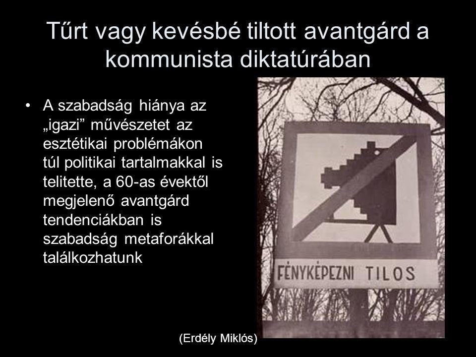 """Tűrt vagy kevésbé tiltott avantgárd a kommunista diktatúrában A szabadság hiánya az """"igazi"""" művészetet az esztétikai problémákon túl politikai tartalm"""
