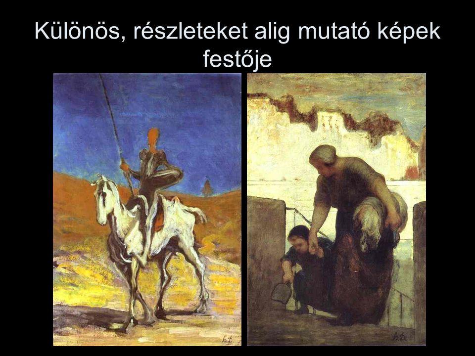 Különös, részleteket alig mutató képek festője