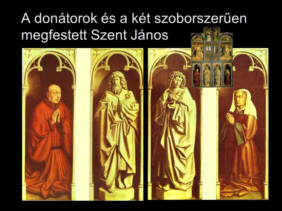 A donátorok és a két szoborszerűen megfestett Szent János