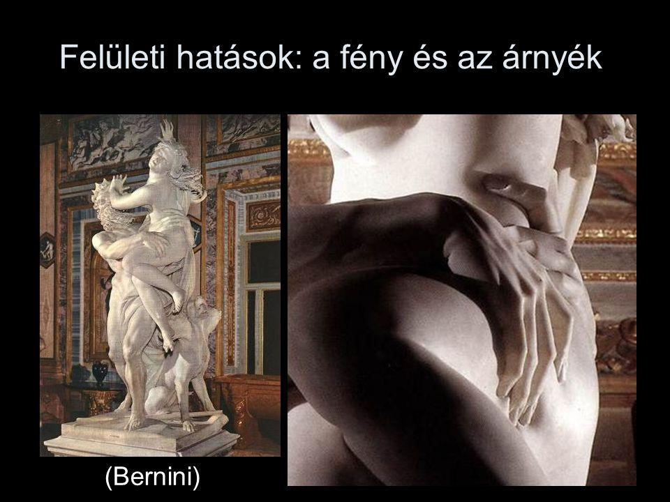 Felületi hatások: a fény és az árnyék (Bernini)