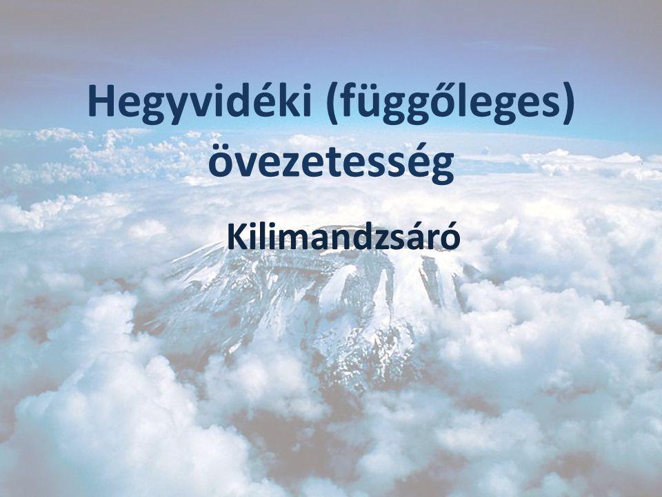 A magas hegyekben felfelé haladva: Csökken:  az évi középhőmérséklet (100 m-enként 0,5 °C-kal)  az évi közepes hőingás  a légnyomás  a levegő O 2 tartalma.