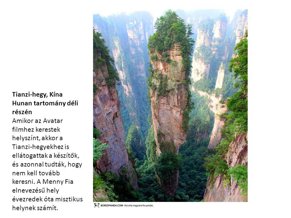 Tianzi-hegy, Kína Hunan tartomány déli részén Amikor az Avatar filmhez kerestek helyszínt, akkor a Tianzi-hegyekhez is ellátogattak a készítők, és azo