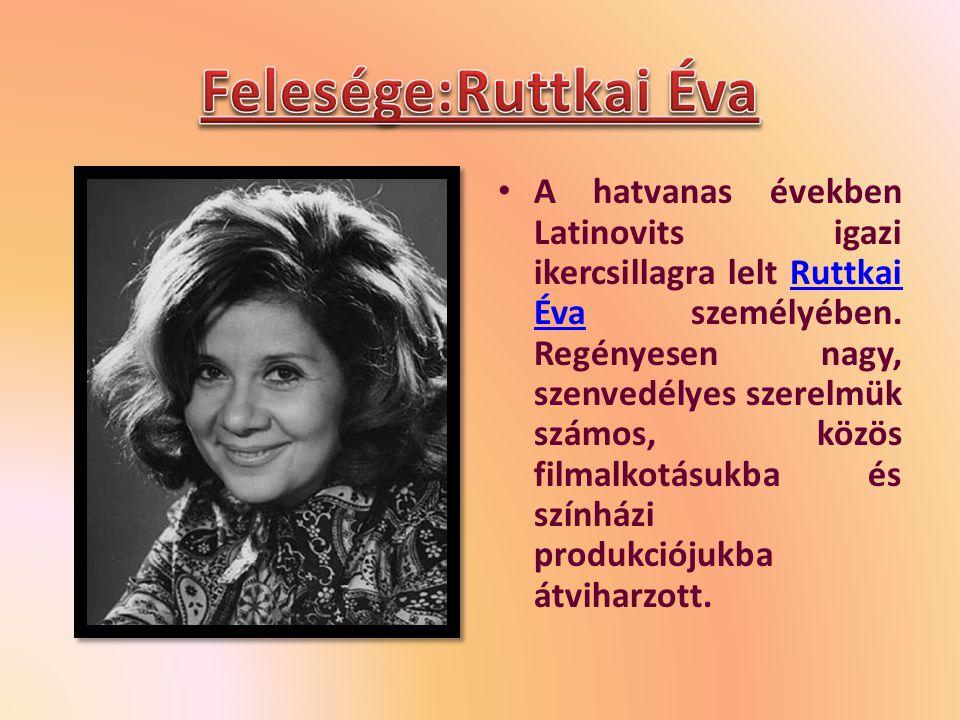 A hatvanas években Latinovits igazi ikercsillagra lelt Ruttkai Éva személyében.