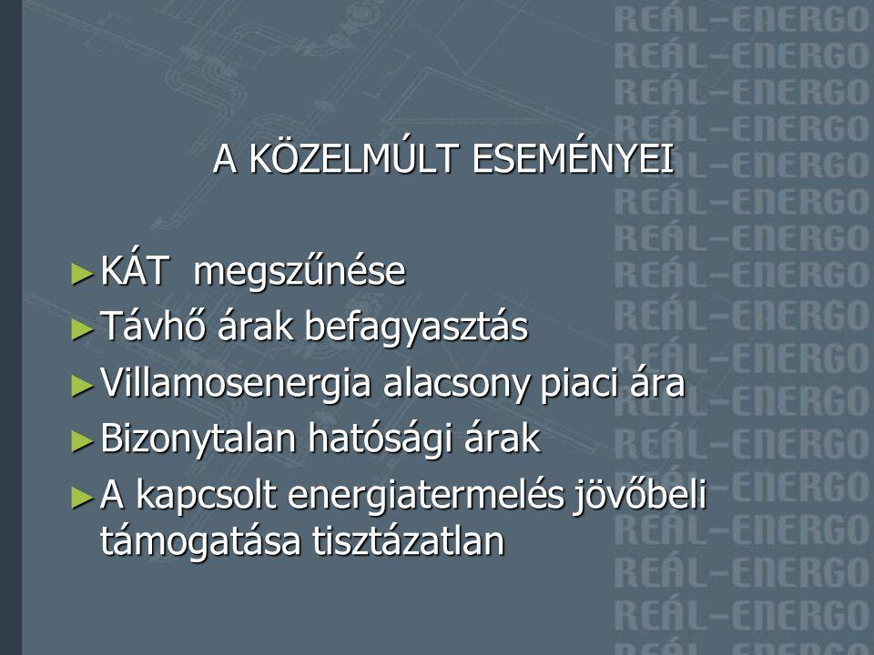 """Változó térfogatáramra való átállás Változó térfogatáramra való átállás k eringetési energia felhasználás, hőveszteség csökkenése, késlekedés mentes szabályozás """"jó hőközponti kapcsolás 1986-tól alkalmazzuk Keringetés szabályozása hidraulikai végpont(ok)ról Keringetés szabályozása hidraulikai végpont(ok)ról k eringetési energiafelhasználás, hőveszteség csökkenése 1989 től alkalmazzuk Telemechanikai rendszerek térhódítása – 1990-től Telemechanikai rendszerek térhódítása – 1990-től Szolgáltatói hőközpontok szétválasztása Szolgáltatói hőközpontok szétválasztása villamosenergia felhasználás, hőveszteség csökkenése, optimalizált szabályozás Primer vezetékhálózat korszerűsítése, előreszigetelt rendszerek 1980- tól Primer vezetékhálózat korszerűsítése, előreszigetelt rendszerek 1980- tól hőveszteség, pótvízigény csökkenése, csőátmérő optimalizálás Üzemvitel optimalizálása Üzemvitel optimalizálása változó térfogatáramú rendszerek esetén a primer menetrend megfelelő megválasztásával a keringetési energiafelhasználás és a hálózati hőveszteség együttes költsége minimalizálható Alternatív energiaforrások alkalmazása Alternatív energiaforrások alkalmazása Távhő költségcsökkentési lehetőségek"""