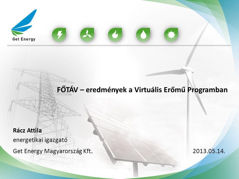 FŐTÁV – eredmények a Virtuális Erőmű Programban Rácz Attila energetikai igazgató Get Energy Magyarország Kft. 2013.05.14.
