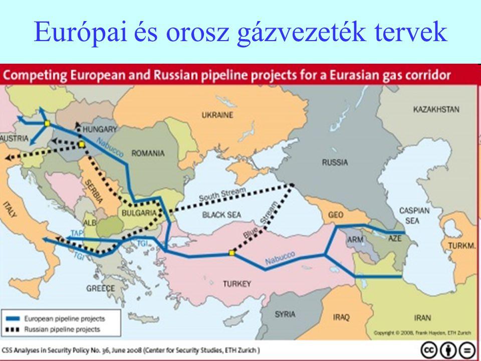 8 Európai és orosz gázvezeték tervek