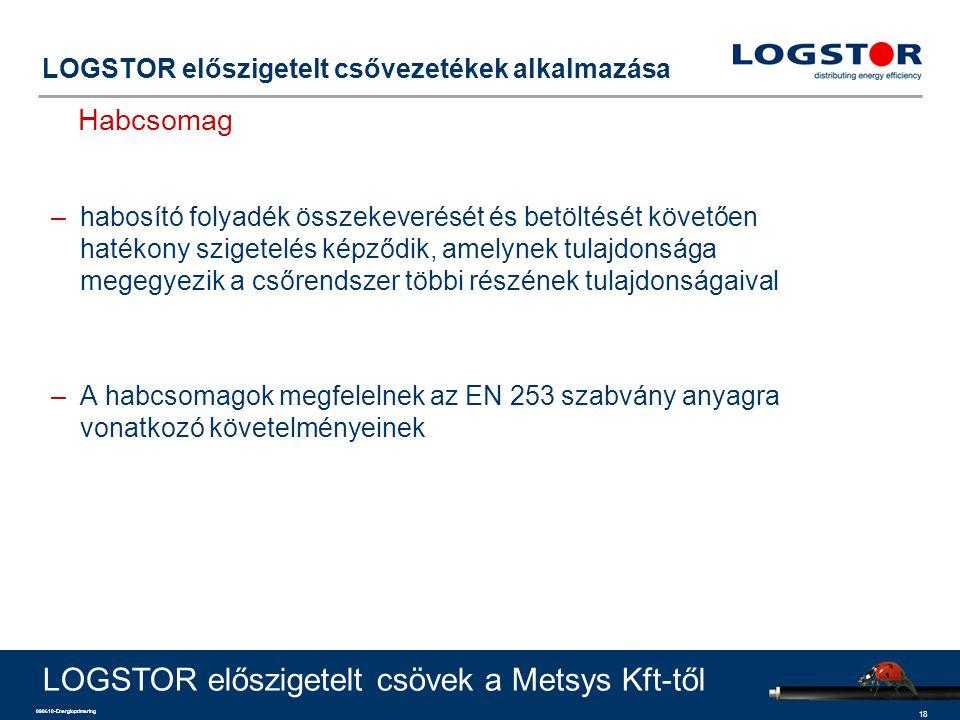 18 090610-Energioptimering LOGSTOR előszigetelt csővezetékek alkalmazása Habcsomag LOGSTOR előszigetelt csövek a Metsys Kft-től –habosító folyadék öss