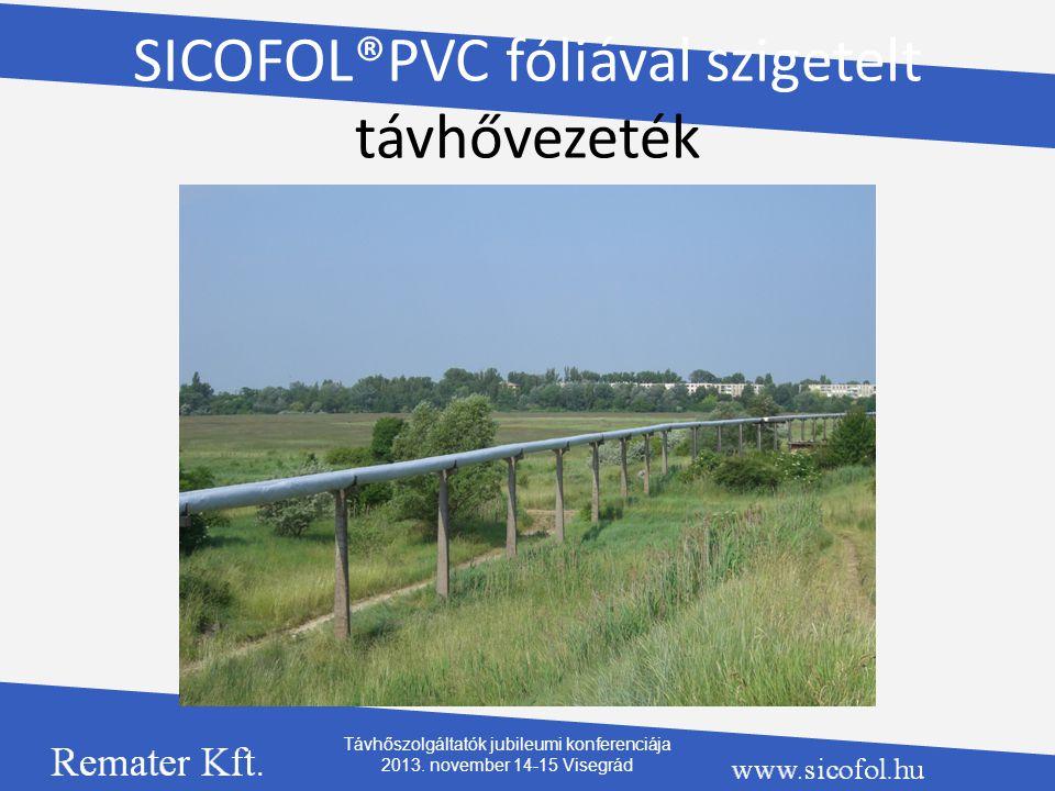 SICOFOL®PVC fóliával szigetelt távhővezeték Távhőszolgáltatók jubileumi konferenciája 2013. november 14-15 Visegrád
