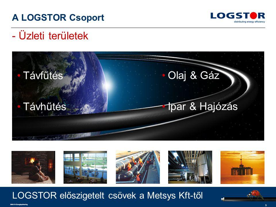 5 090610-Energioptimering A LOGSTOR Csoport - Üzleti területek Távfűtés Távhűtés Olaj & Gáz Ipar & Hajózás LOGSTOR előszigetelt csövek a Metsys Kft-tő