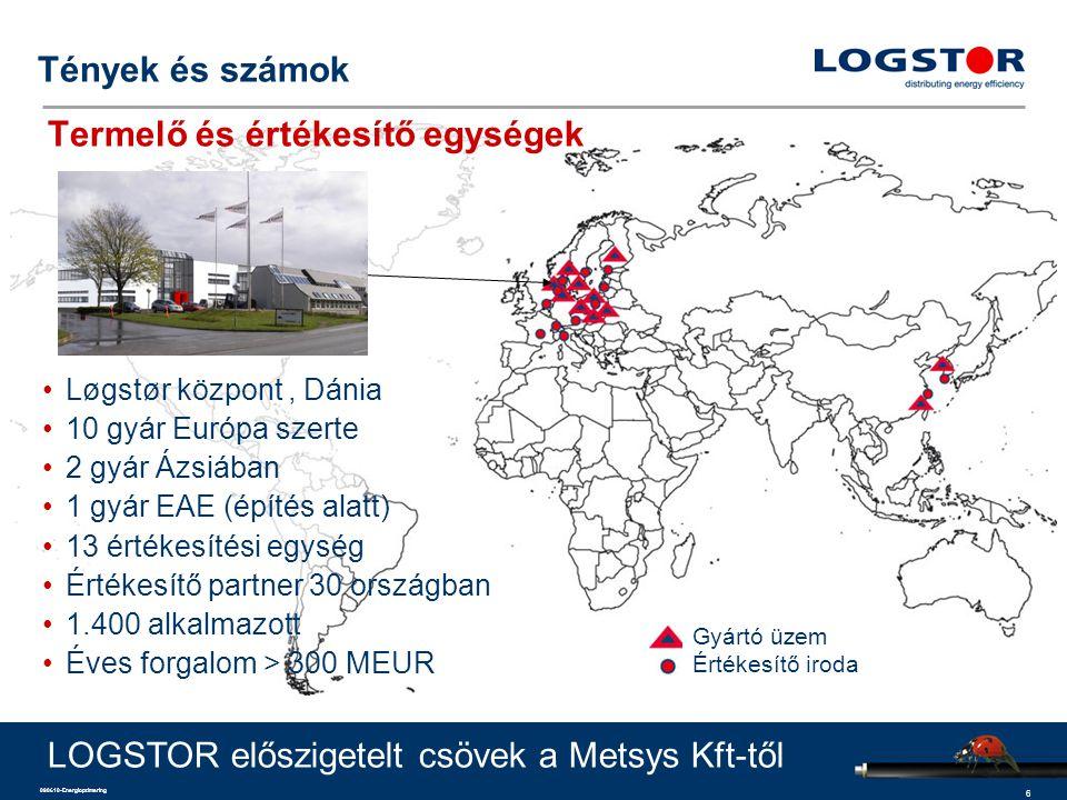 7 090610-Energioptimering Tények és számok - Gyártó és értékesítő egységek Értékesítés Gyártás és értékesítés LOGSTOR előszigetelt csövek a Metsys Kft-től