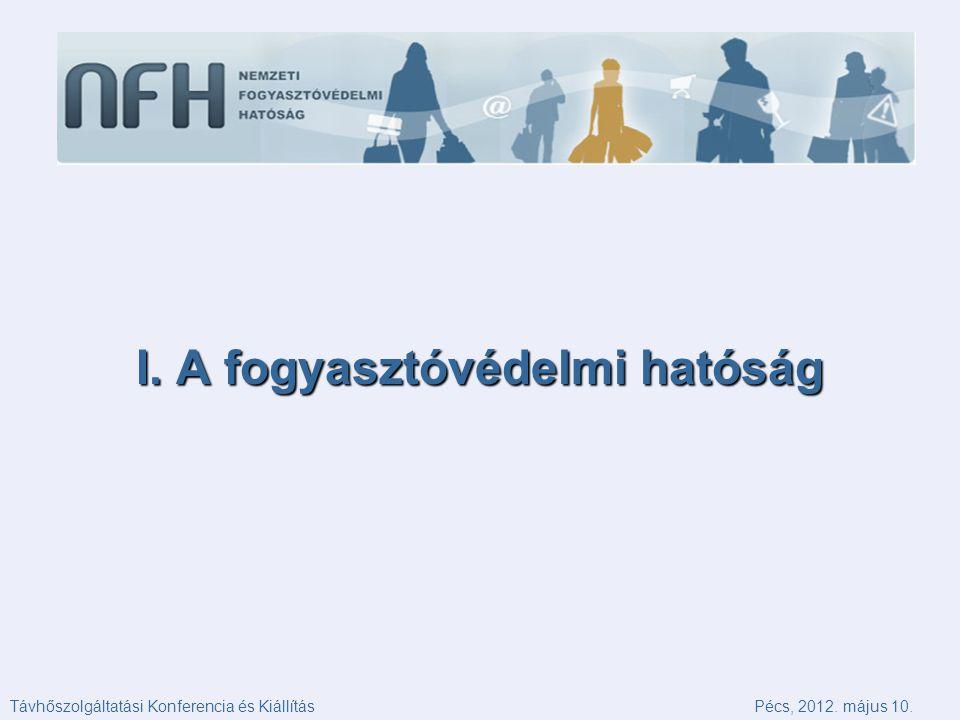 I. A fogyasztóvédelmi hatóság Távhőszolgáltatási Konferencia és KiállításPécs, 2012. május 10.