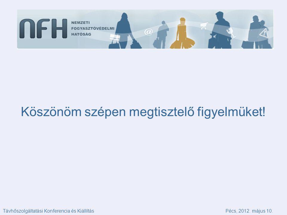 Köszönöm szépen megtisztelő figyelmüket. Távhőszolgáltatási Konferencia és KiállításPécs, 2012.