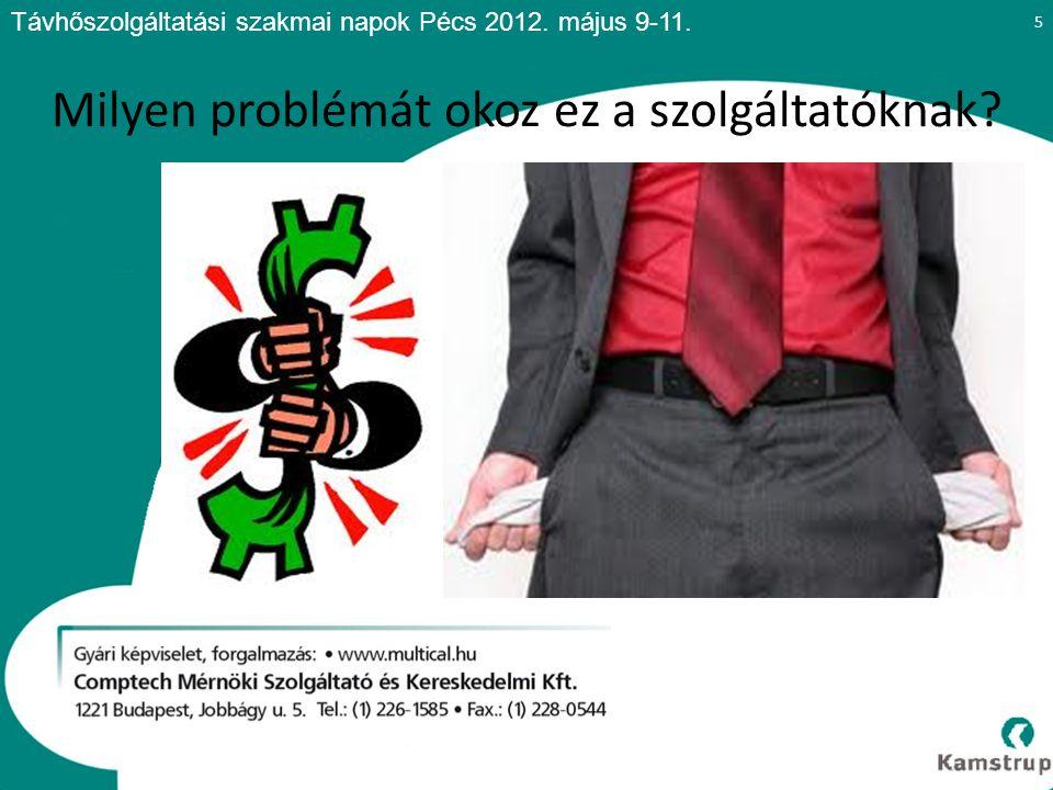 5 Távhőszolgáltatási szakmai napok Pécs 2012. május 9-11.