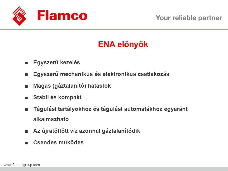 Flamco Group www.flamcogroup.com ■Egyszerű kezelés ■Egyszerű mechanikus és elektronikus csatlakozás ■Magas (gáztalanító) hatásfok ■Stabil és kompakt ■