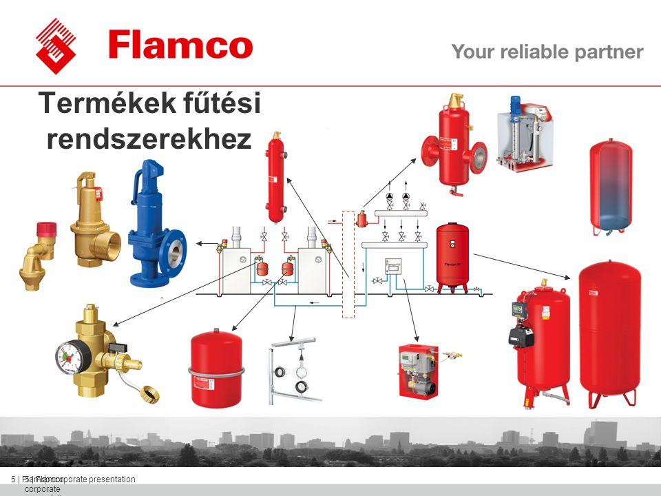 || Flamco Group 6 | Flamco corporate presentation Termékek HMV rendszerekhez
