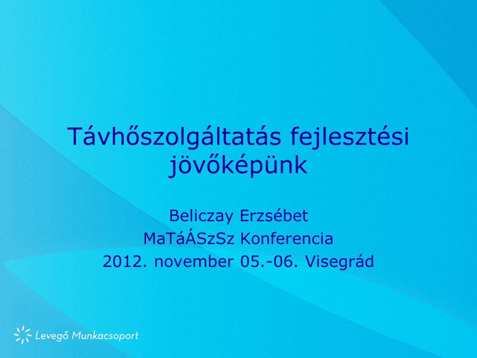 Távhőszolgáltatás fejlesztési jövőképünk Beliczay Erzsébet MaTáÁSzSz Konferencia 2012. november 05.-06. Visegrád