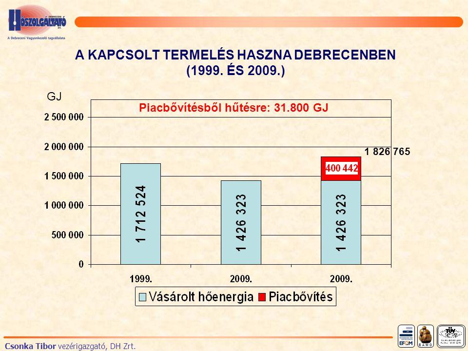 A KAPCSOLT TERMELÉS HASZNA DEBRECENBEN (1999.