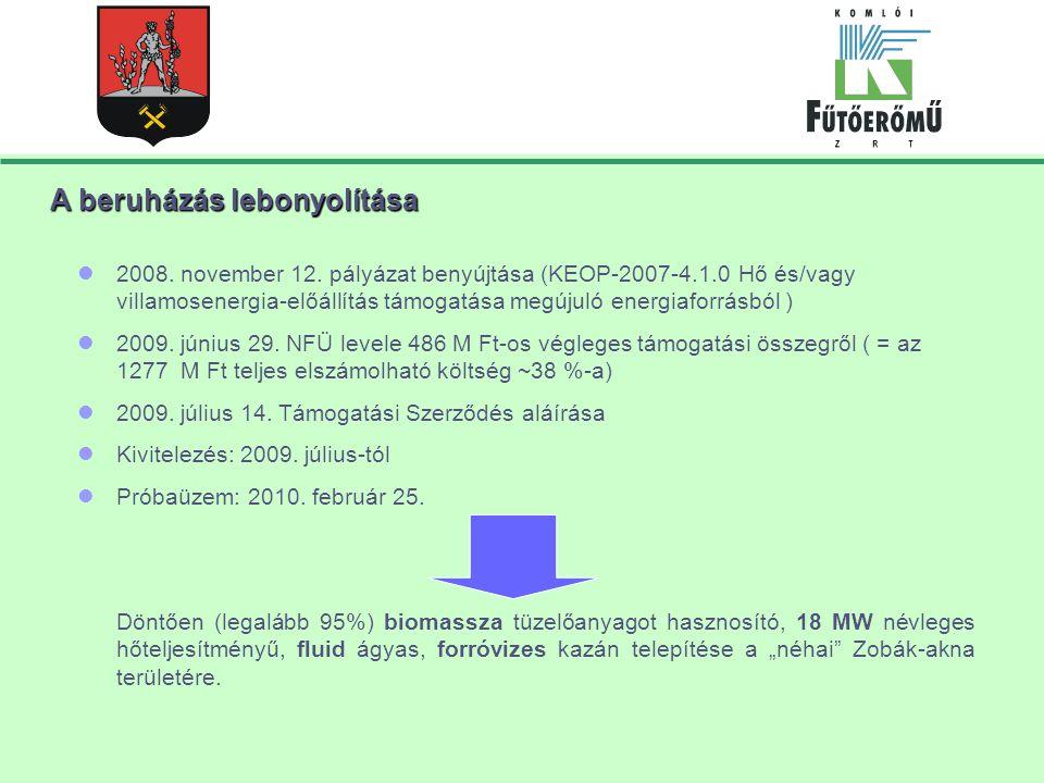 A beruházás lebonyolítása 2008.november 12.