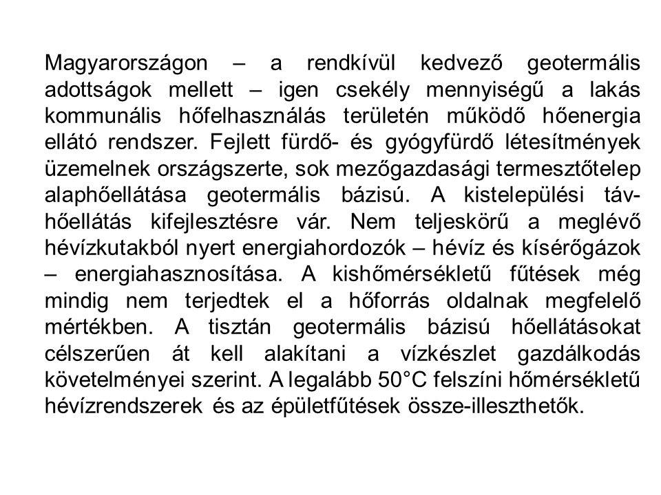 TERMÁLENERGIA FELHASZNÁLÁS A TÁVHŐBEN [GJ/év] Megszűnt: Kapuvár, Mosonmagyaróvár, Makó.