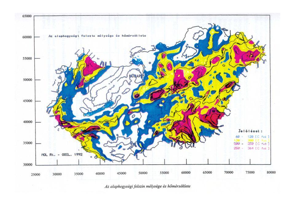 A geotermális energia Belső energia áramlása: földkéreg, köpeny és mag tömege által tárolt hő  hőáram a felszín felé.