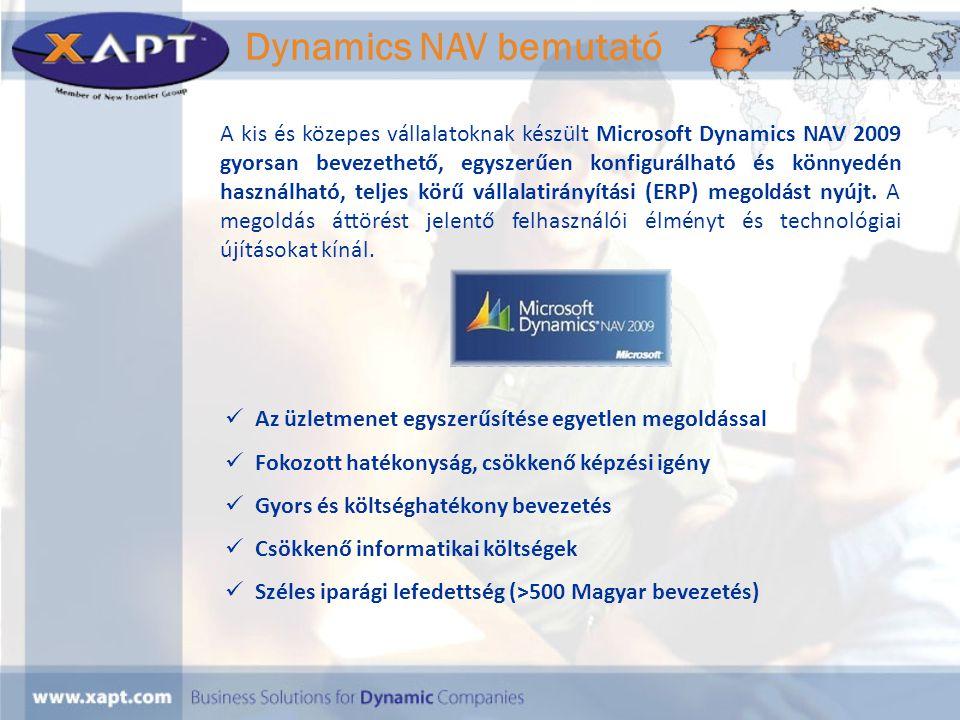 A kis és közepes vállalatoknak készült Microsoft Dynamics NAV 2009 gyorsan bevezethető, egyszerűen konfigurálható és könnyedén használható, teljes kör