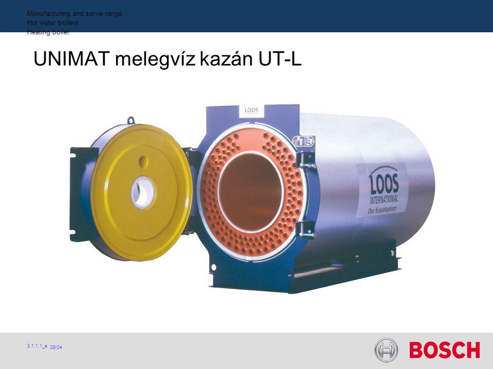 09/04 3.1.1.1_e Manufacturing and servie range Hot water boilers Heating boiler UNIMAT melegvíz kazán UT-L