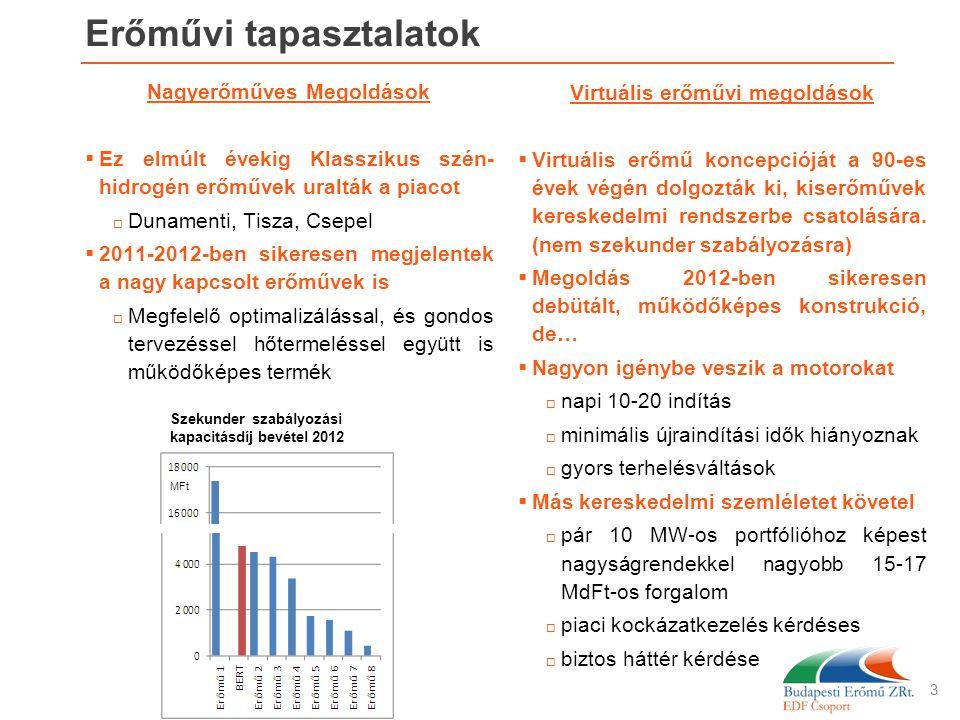 Erőművi tapasztalatok Nagyerőműves Megoldások  Ez elmúlt évekig Klasszikus szén- hidrogén erőművek uralták a piacot  Dunamenti, Tisza, Csepel  2011
